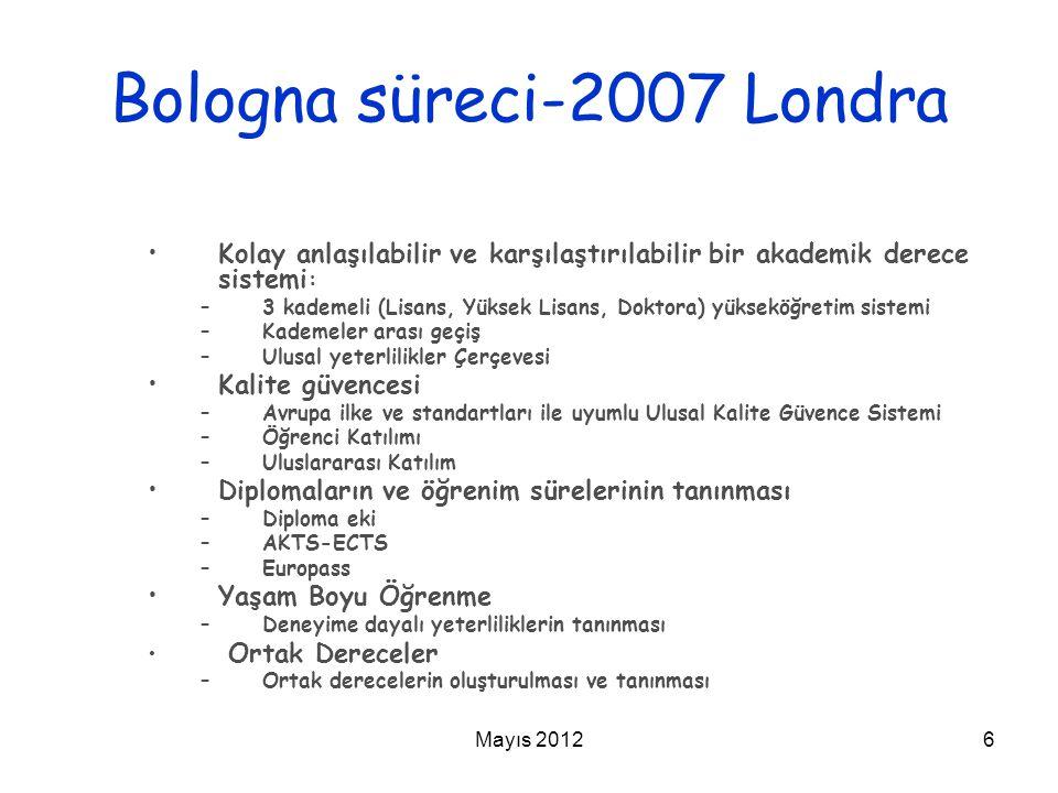 Bologna süreci-2007 Londra