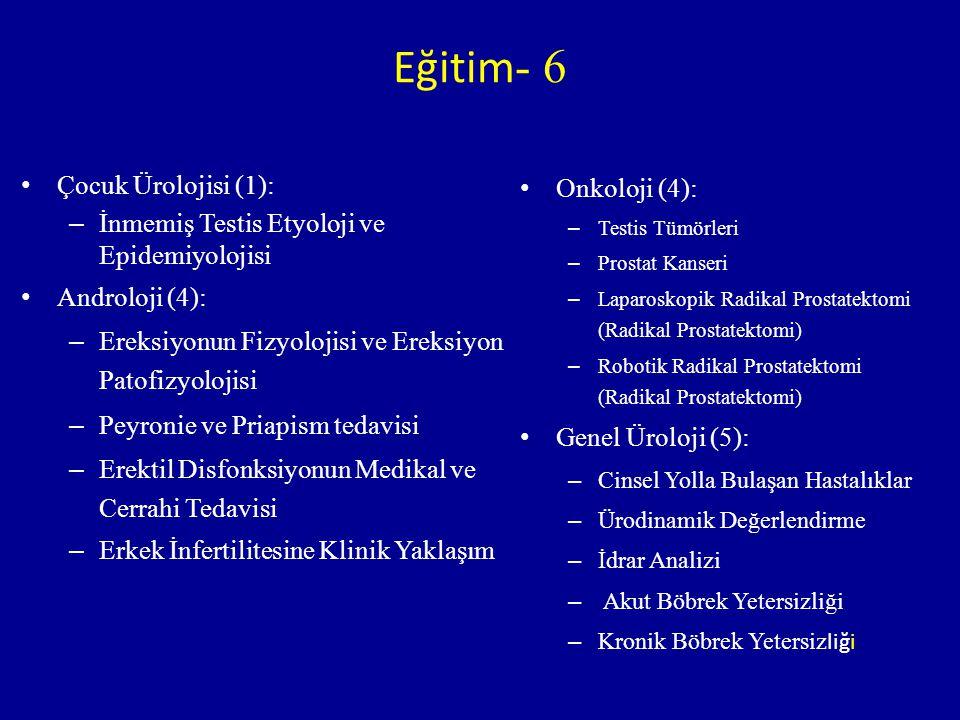 Eğitim- 6 Çocuk Ürolojisi (1):
