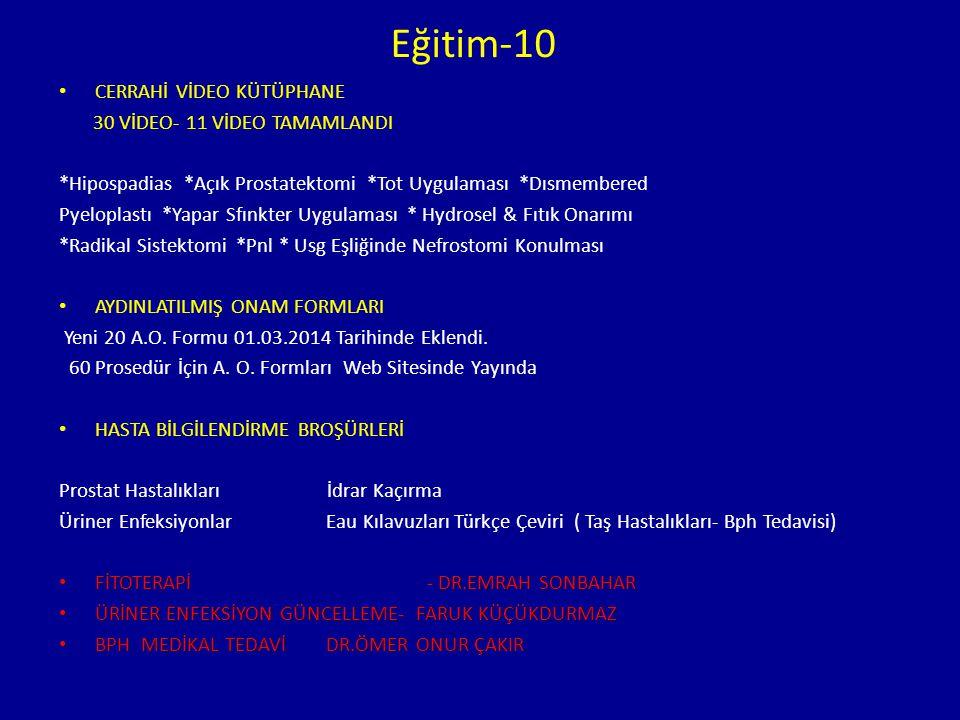 Eğitim-10 CERRAHİ VİDEO KÜTÜPHANE 30 VİDEO- 11 VİDEO TAMAMLANDI