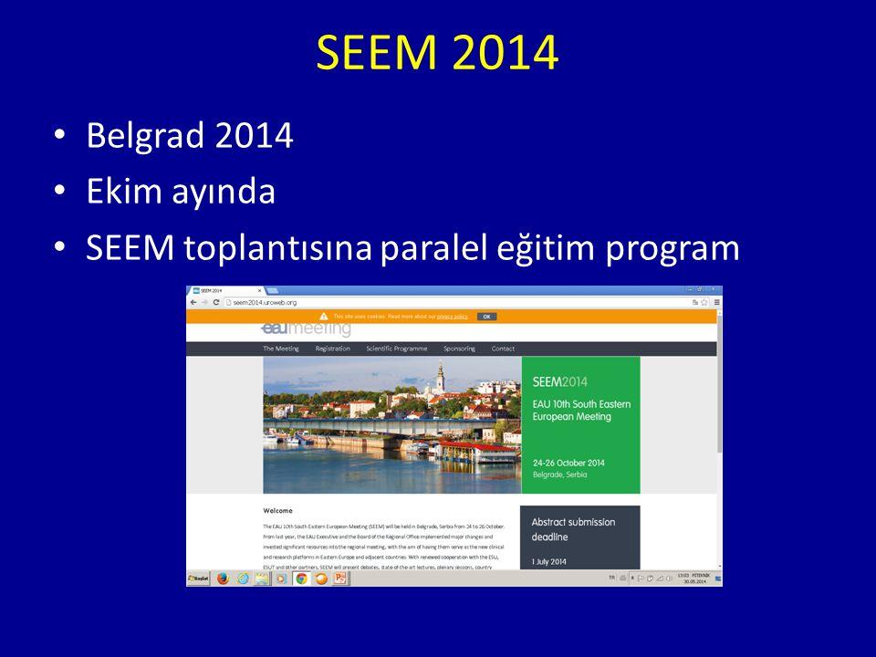 SEEM 2014 Belgrad 2014 Ekim ayında
