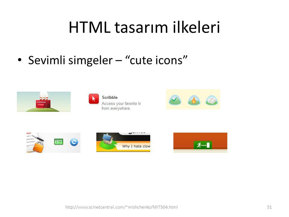 HTML tasarım ilkeleri Sevimli simgeler – cute icons