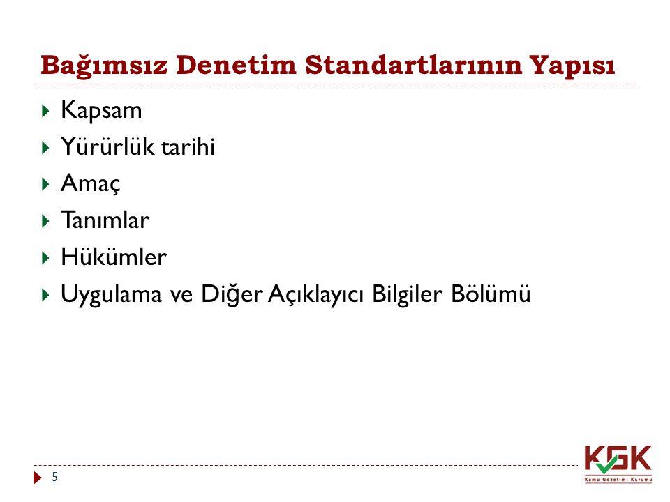 Bağımsız Denetim Standartlarının Yapısı