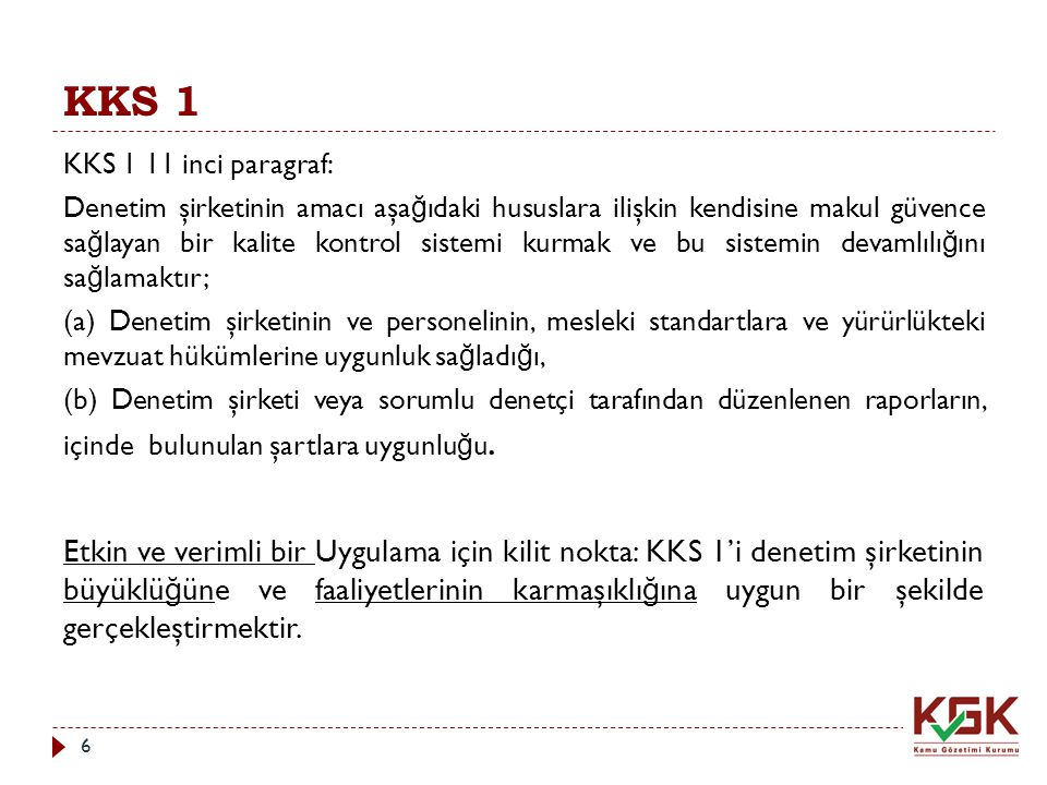 KKS 1 KKS 1 11 inci paragraf: