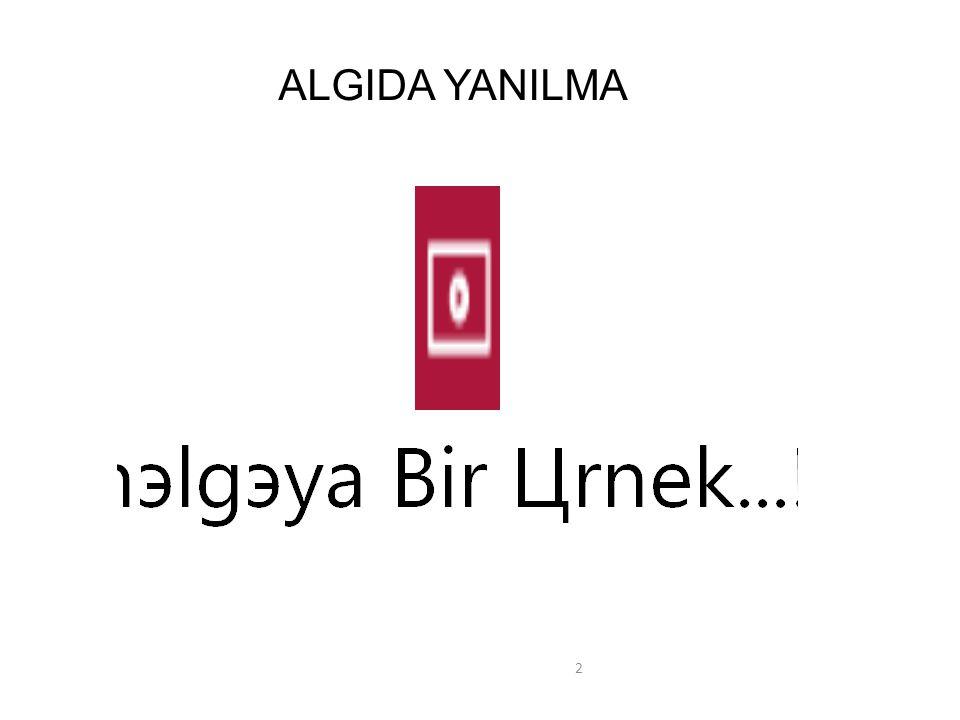ALGIDA YANILMA