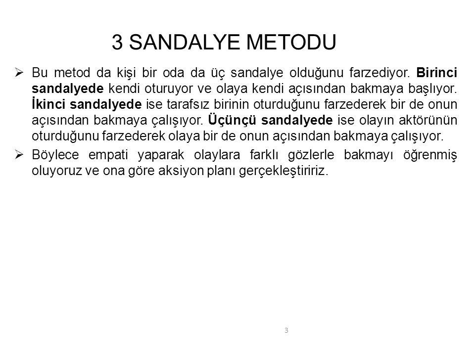 3 SANDALYE METODU