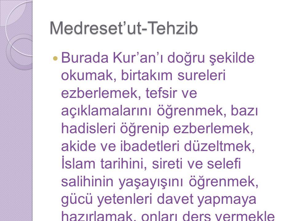 Medreset'ut-Tehzib