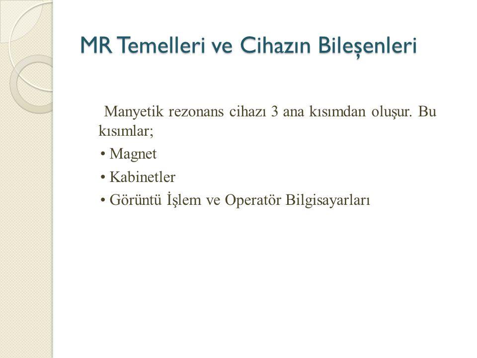 MR Temelleri ve Cihazın Bileşenleri