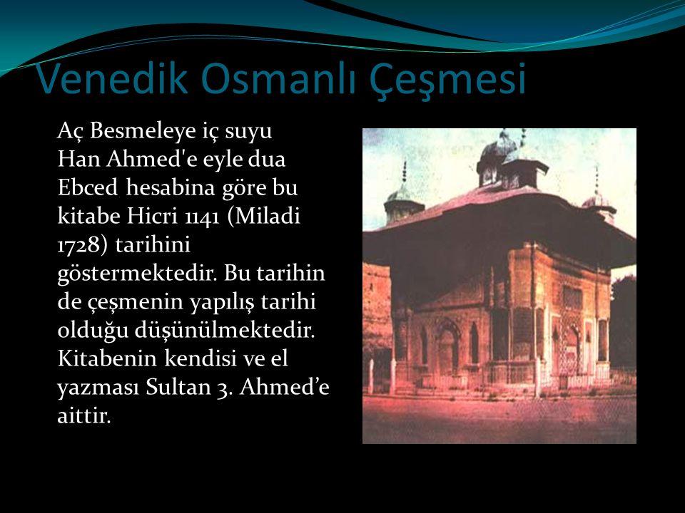 Venedik Osmanlı Çeşmesi