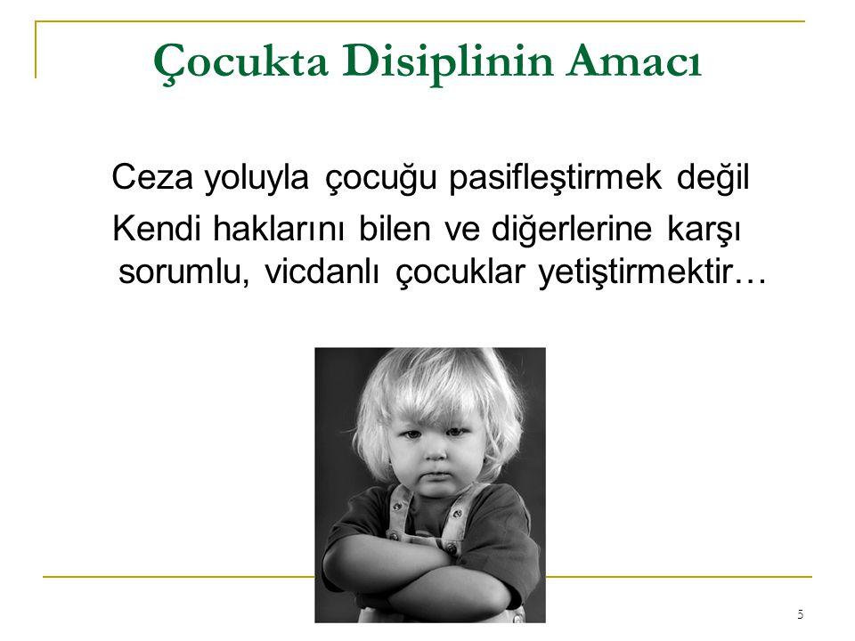 Çocukta Disiplinin Amacı
