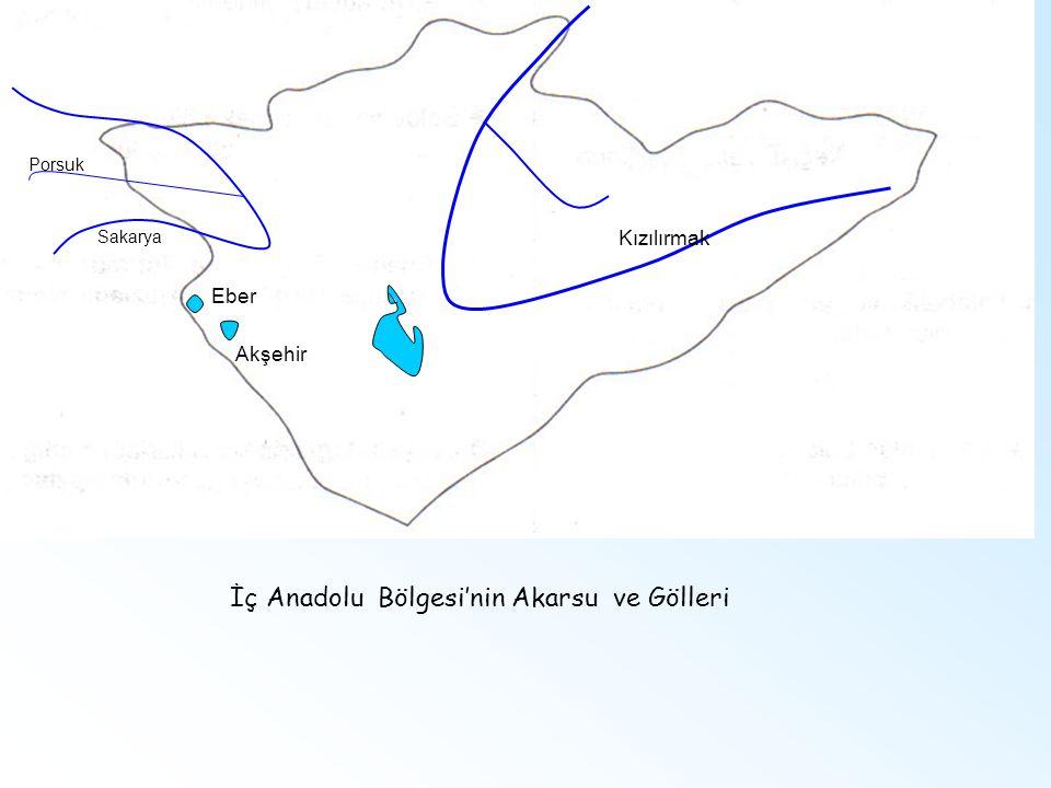 İç Anadolu Bölgesi'nin Akarsu ve Gölleri