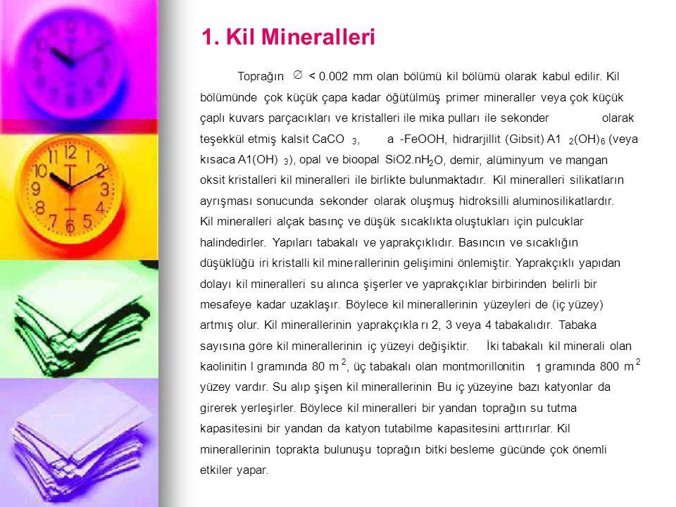 1. Kil Mineralleri Toprağın Æ