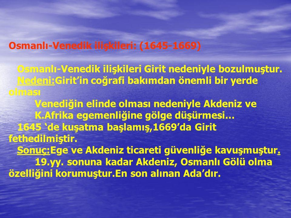 Osmanlı-Venedik ilişkileri: (1645-1669)