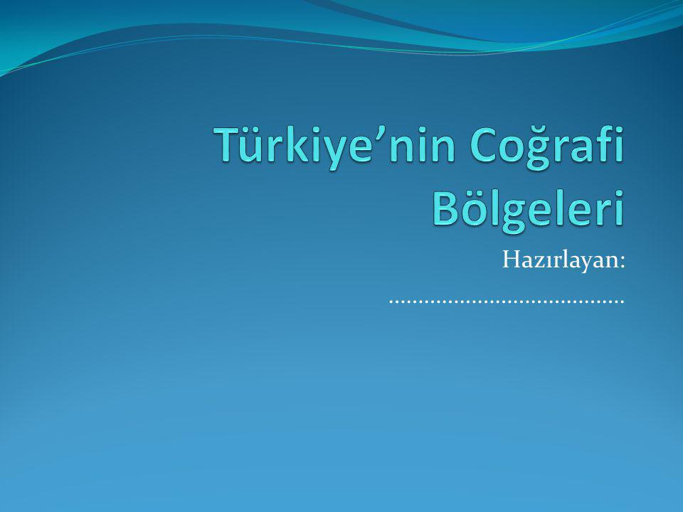 Türkiye'nin Coğrafi Bölgeleri