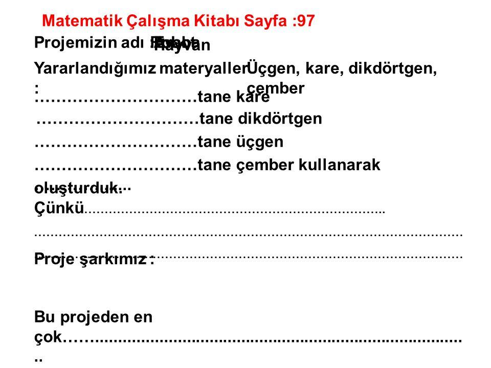 Matematik Çalışma Kitabı Sayfa :97