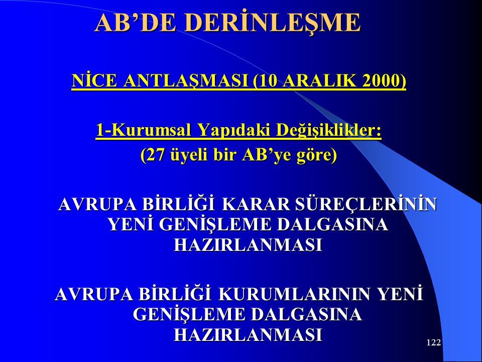 AB'DE DERİNLEŞME NİCE ANTLAŞMASI (10 ARALIK 2000)