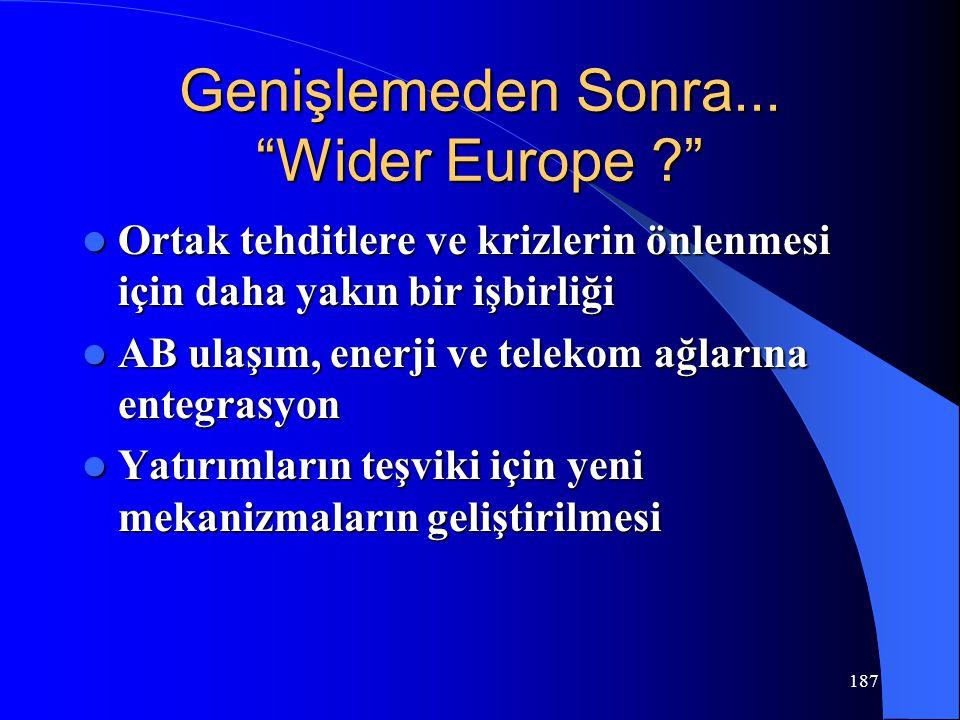 Genişlemeden Sonra... Wider Europe