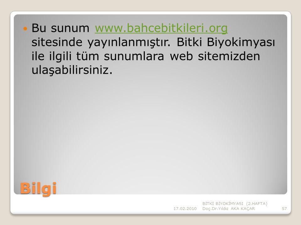 Bu sunum www. bahcebitkileri. org sitesinde yayınlanmıştır