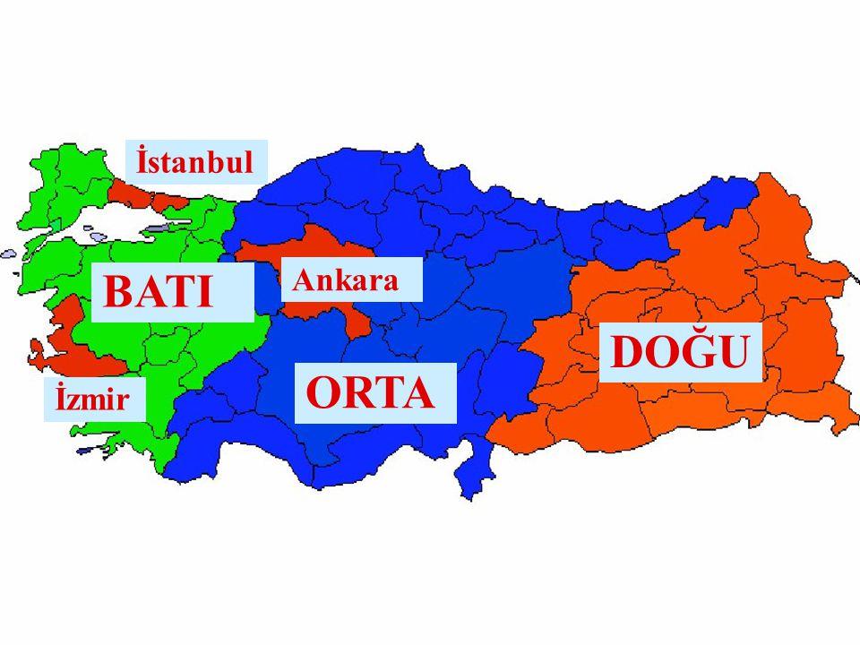 İstanbul BATI Ankara DOĞU ORTA İzmir