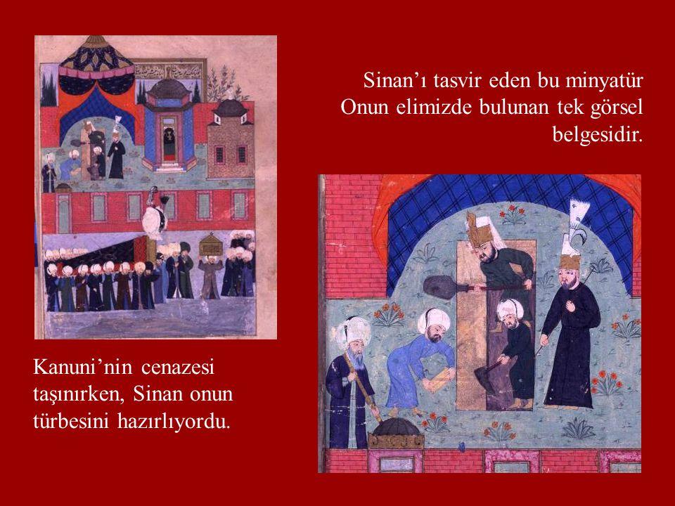 Sinan'ı tasvir eden bu minyatür