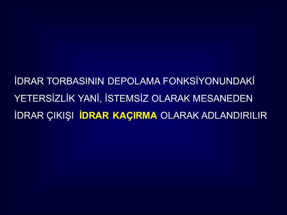 İDRAR TORBASININ DEPOLAMA FONKSİYONUNDAKİ