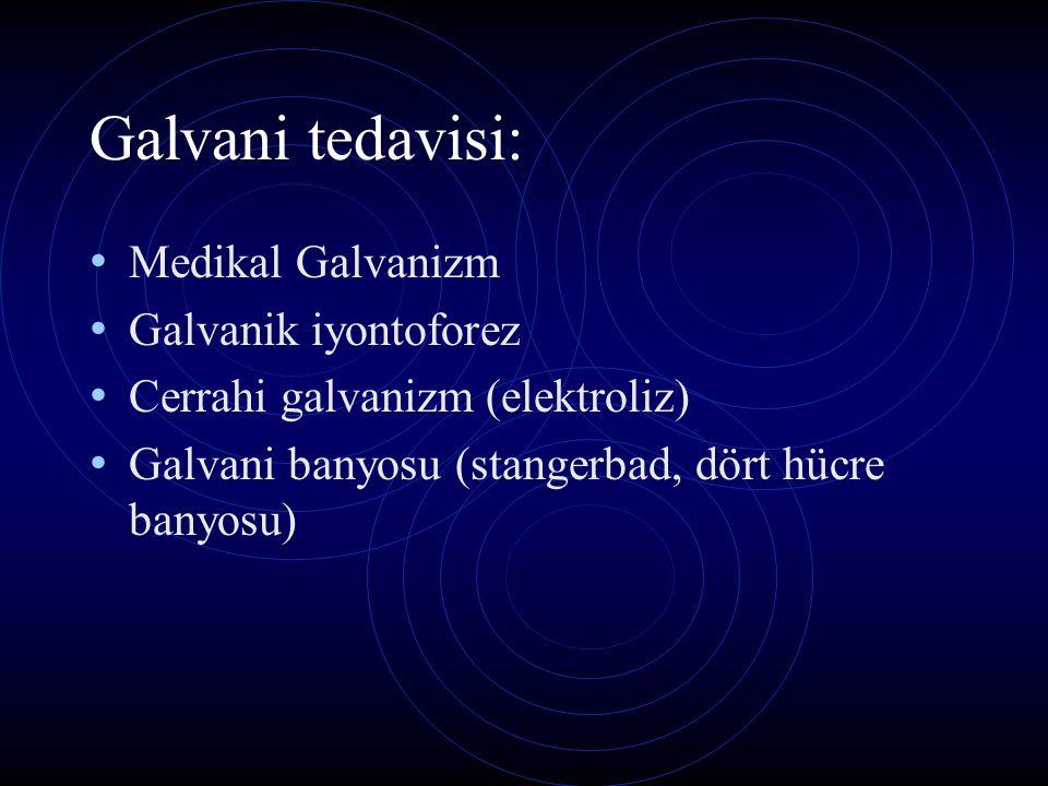 Galvani tedavisi: Medikal Galvanizm Galvanik iyontoforez