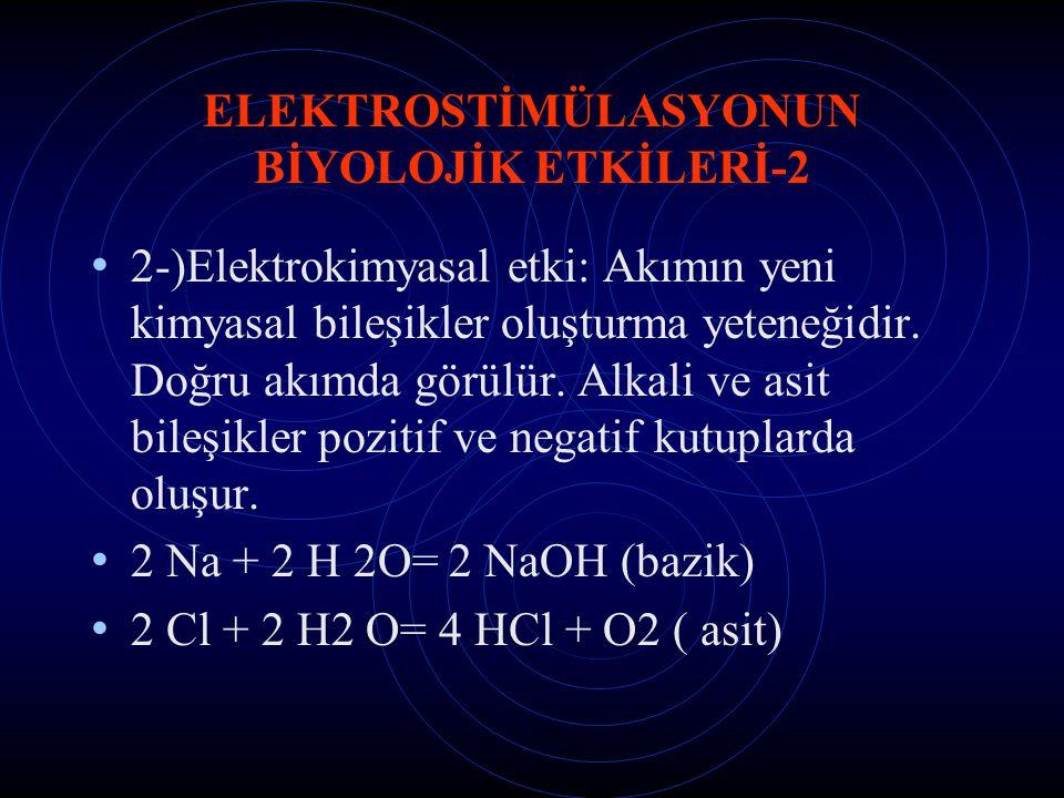 ELEKTROSTİMÜLASYONUN BİYOLOJİK ETKİLERİ-2