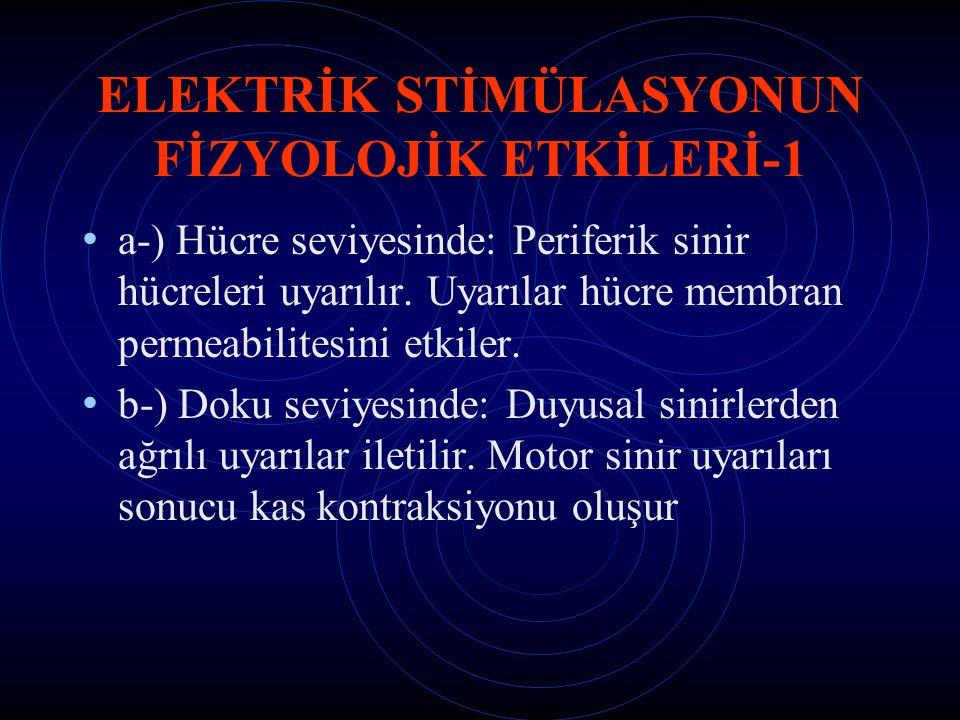 ELEKTRİK STİMÜLASYONUN FİZYOLOJİK ETKİLERİ-1