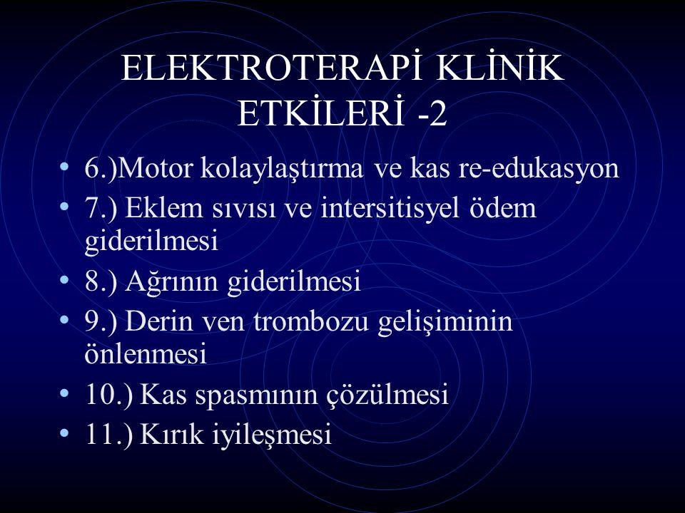ELEKTROTERAPİ KLİNİK ETKİLERİ -2