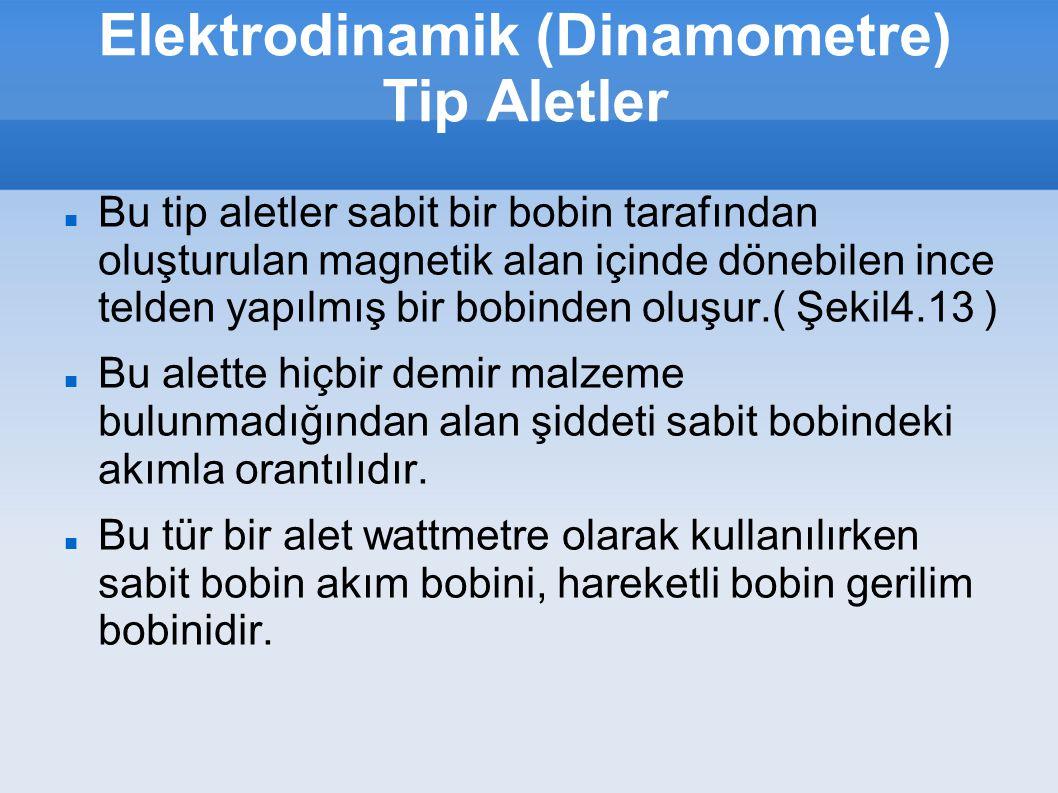 Elektrodinamik (Dinamometre) Tip Aletler