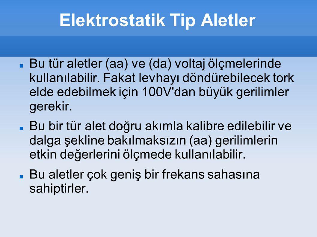 Elektrostatik Tip Aletler