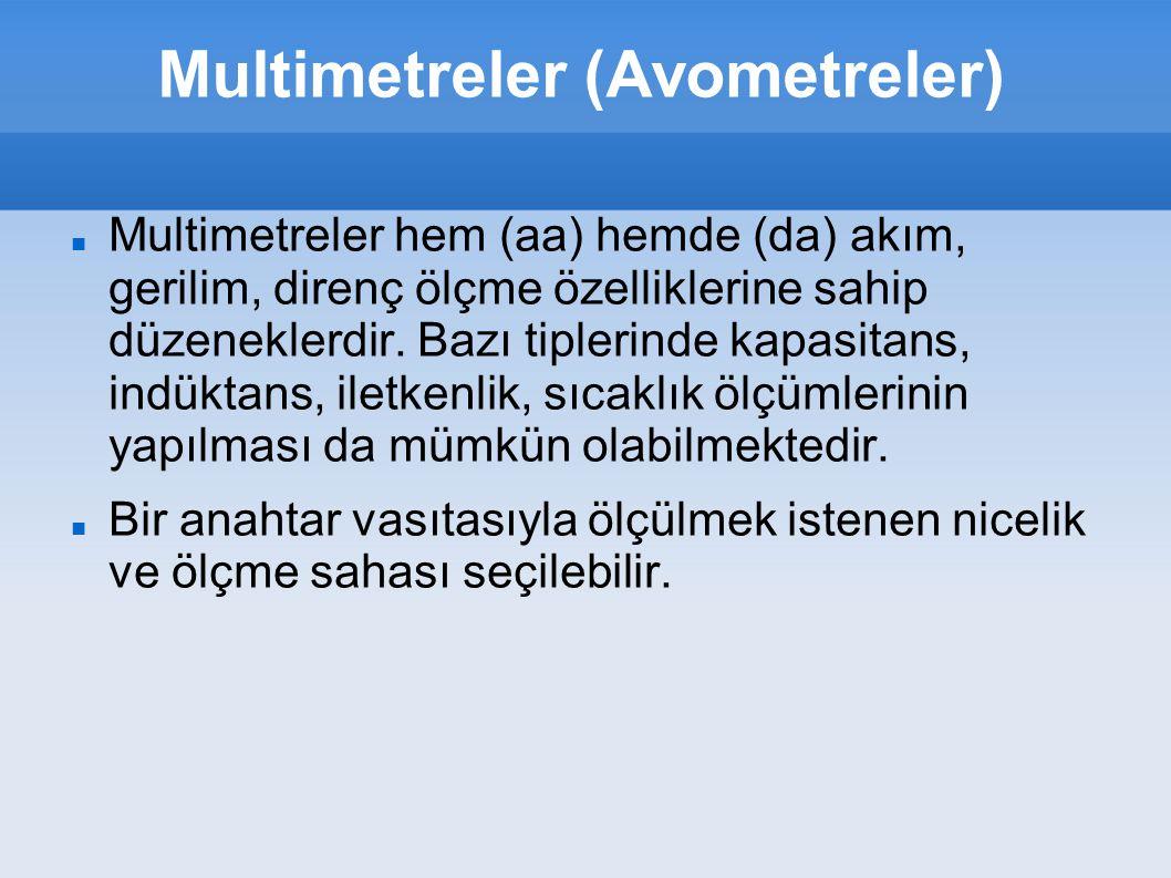 Multimetreler (Avometreler)