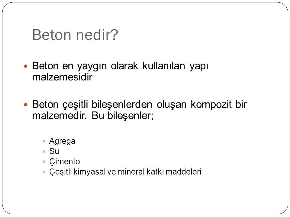 Beton nedir Beton en yaygın olarak kullanılan yapı malzemesidir