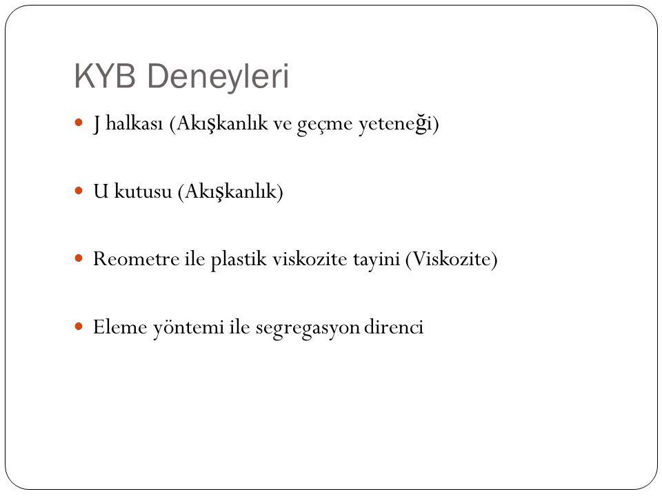 KYB Deneyleri J halkası (Akışkanlık ve geçme yeteneği)