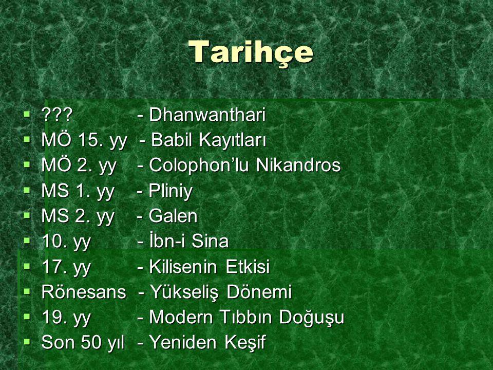 Tarihçe - Dhanwanthari MÖ 15. yy - Babil Kayıtları