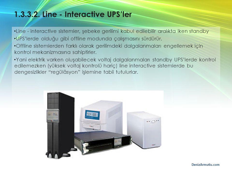 1.3.3.2. Line - Interactive UPS'ler