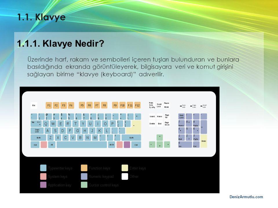 1.1. Klavye 1.1.1. Klavye Nedir