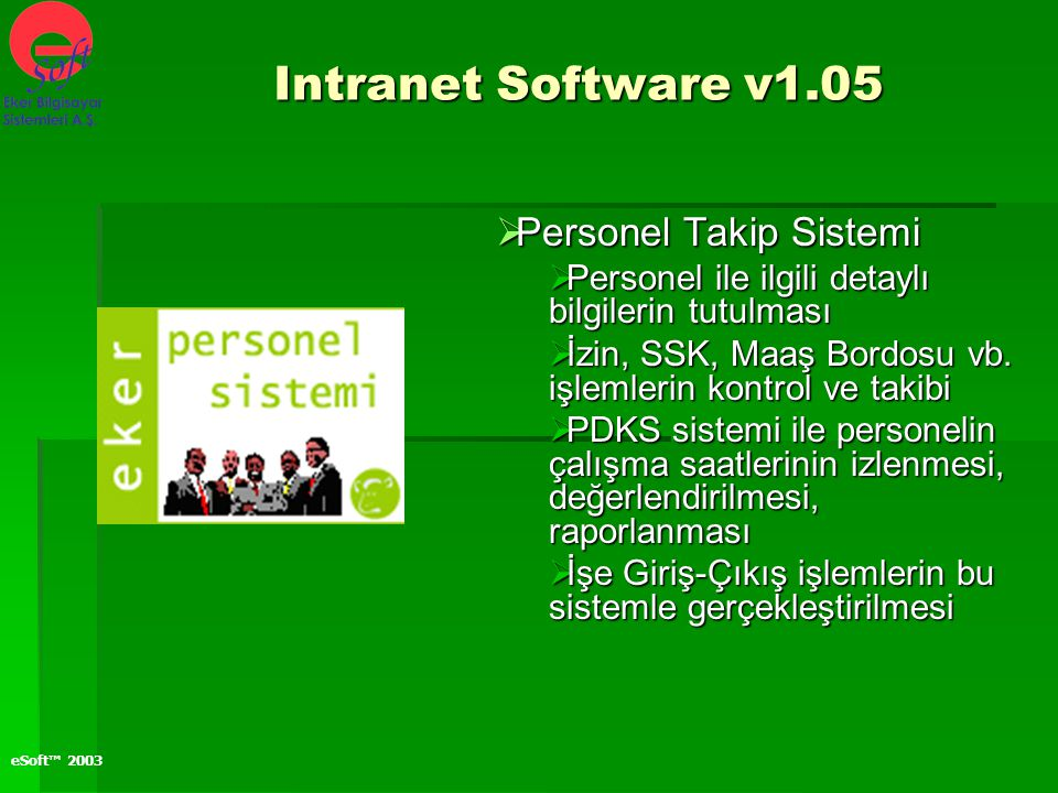 Intranet Software v1.05 Personel Takip Sistemi