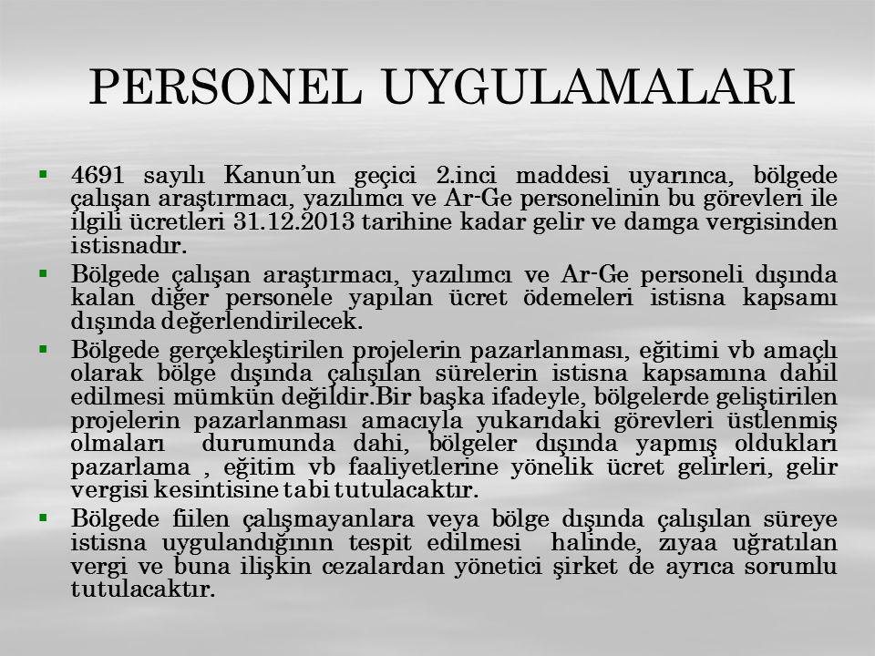 PERSONEL UYGULAMALARI
