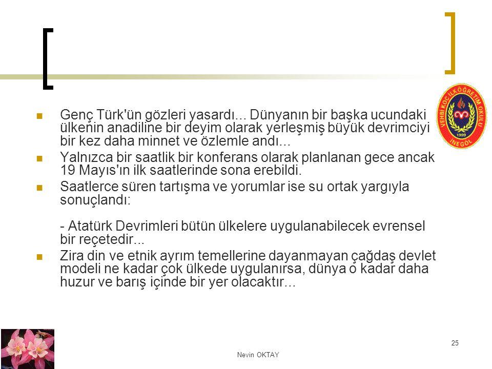 Genç Türk ün gözleri yasardı