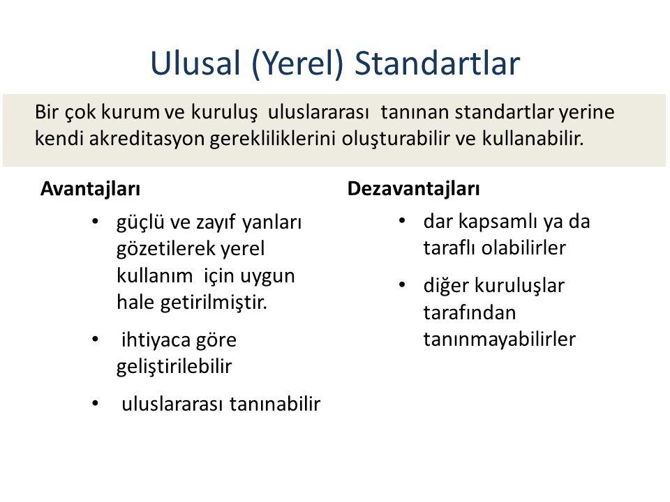 Ulusal (Yerel) Standartlar