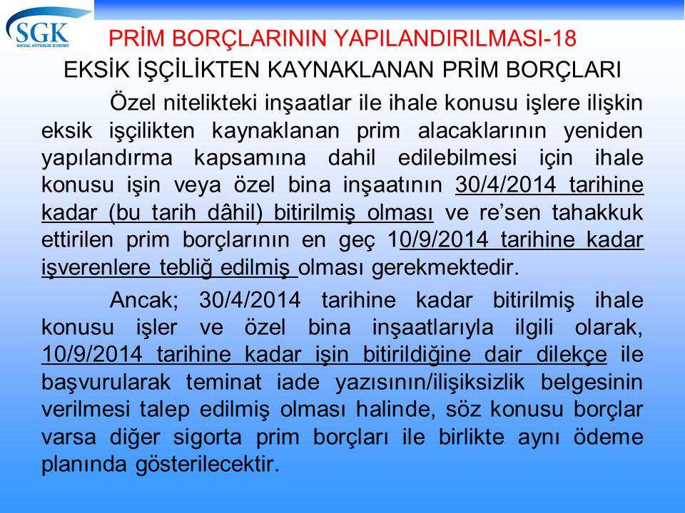 PRİM BORÇLARININ YAPILANDIRILMASI-18