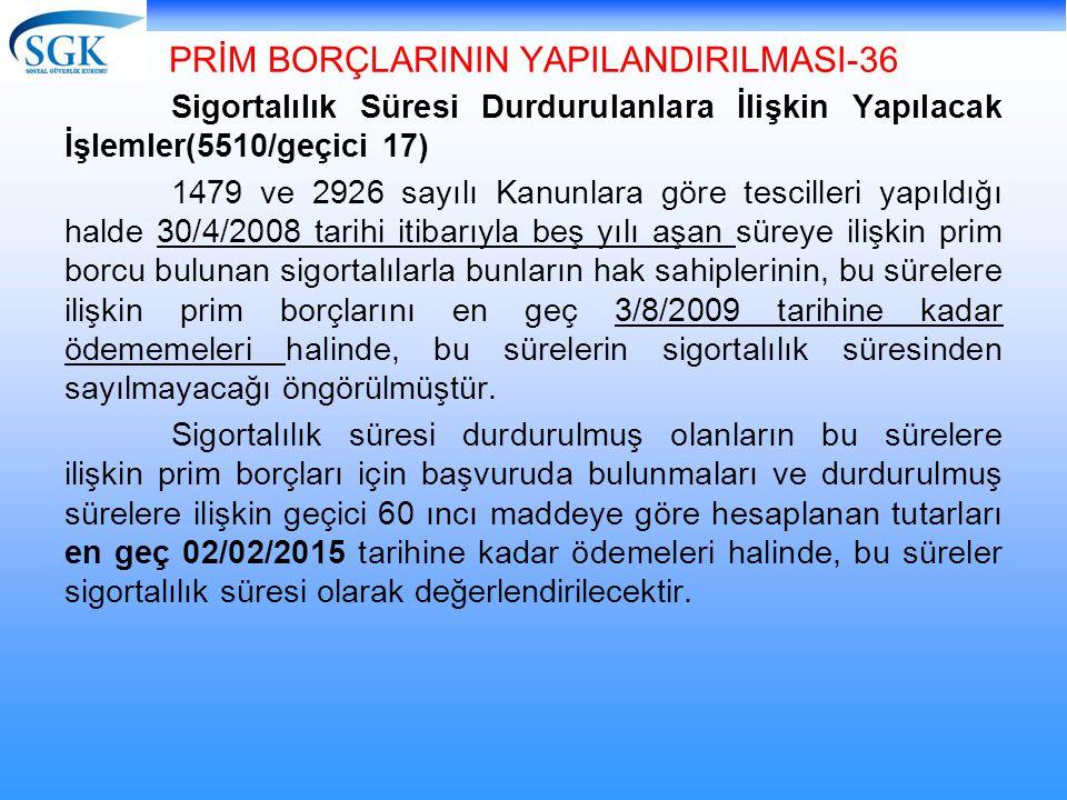 PRİM BORÇLARININ YAPILANDIRILMASI-36