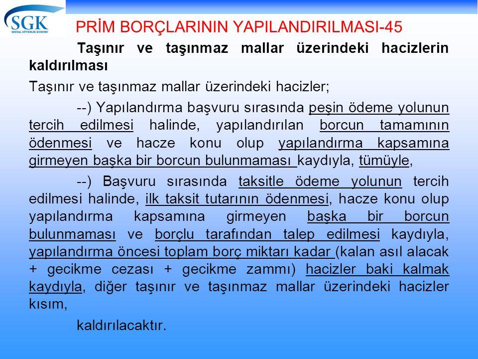 PRİM BORÇLARININ YAPILANDIRILMASI-45
