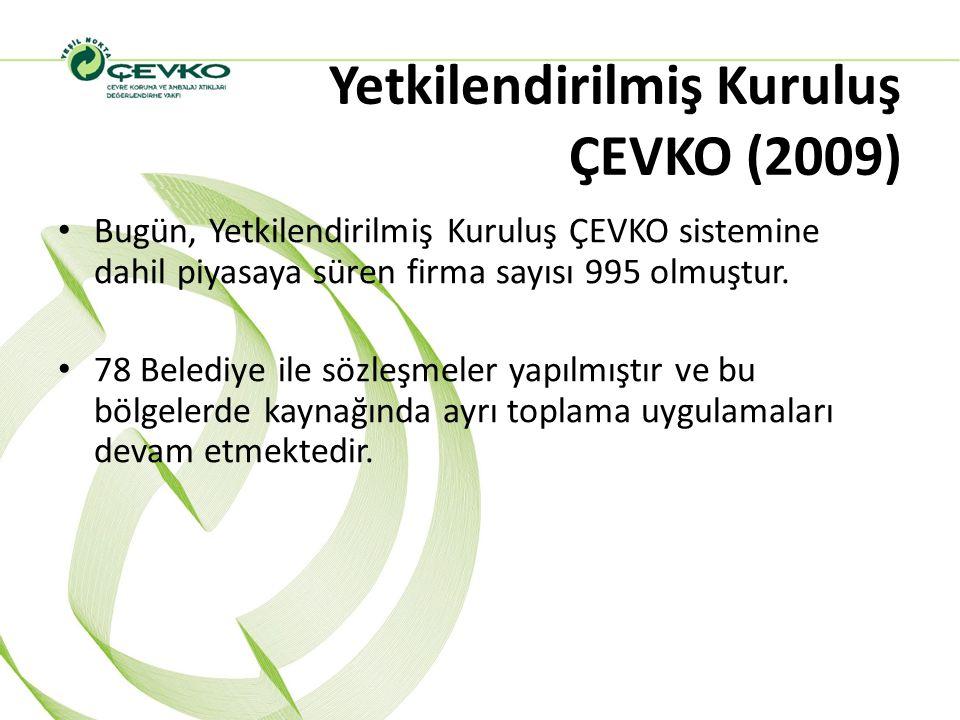 Yetkilendirilmiş Kuruluş ÇEVKO (2009)