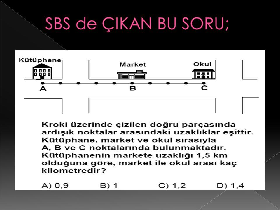 SBS de ÇIKAN BU SORU;