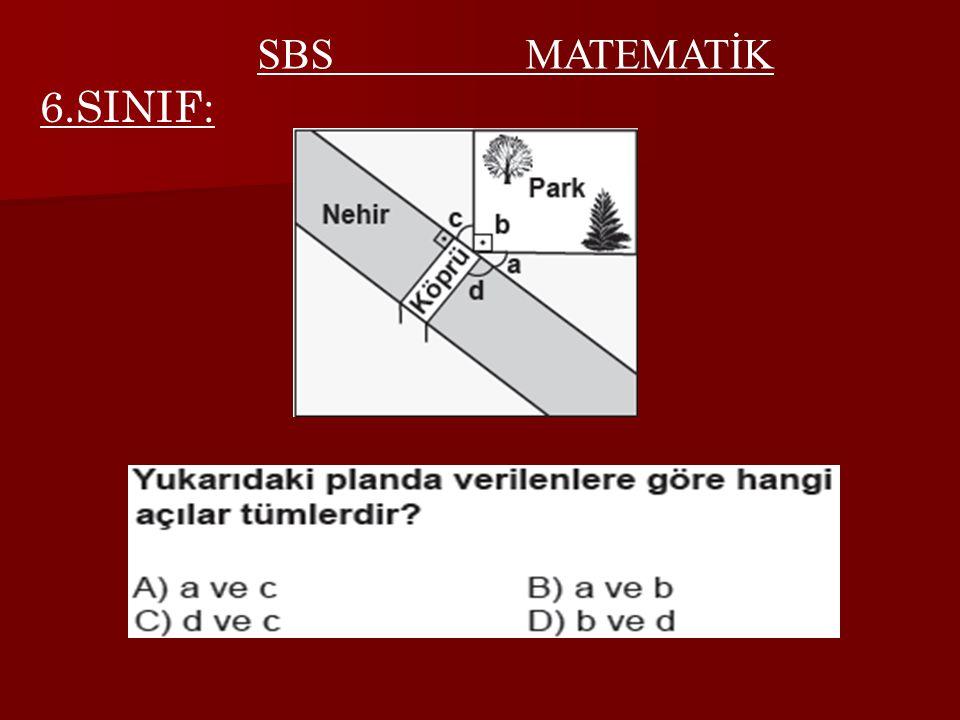 SBS MATEMATİK 6.SINIF: