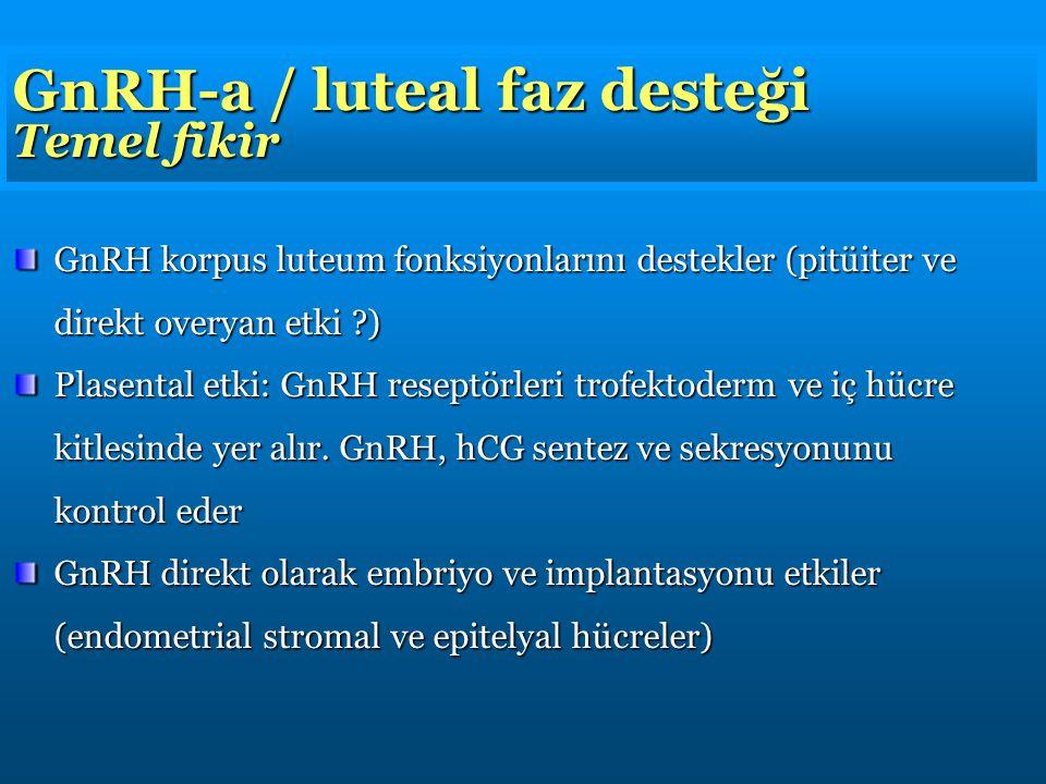 GnRH-a / luteal faz desteği Temel fikir