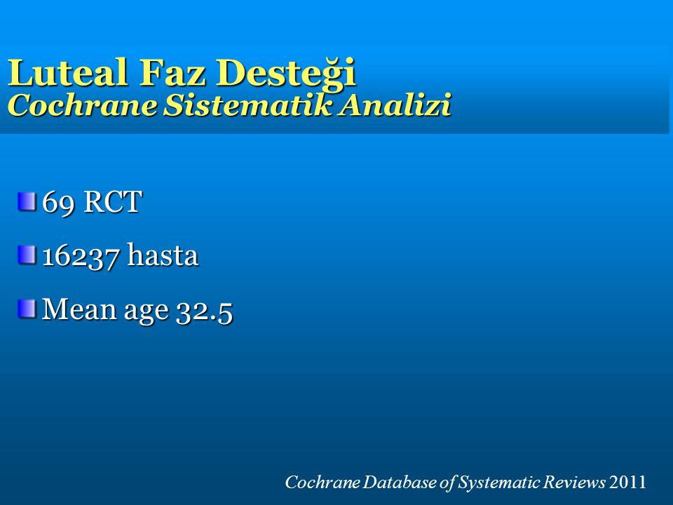 Luteal Faz Desteği Cochrane Sistematik Analizi