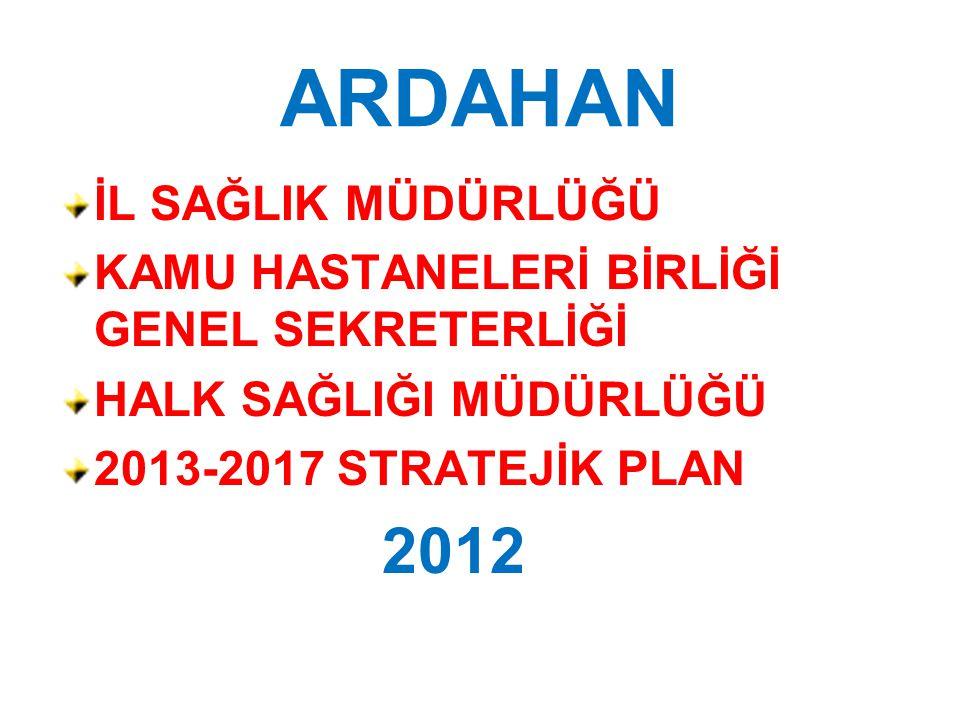 ARDAHAN 2012 İL SAĞLIK MÜDÜRLÜĞÜ