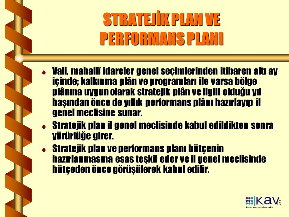 STRATEJİK PLAN VE PERFORMANS PLANI